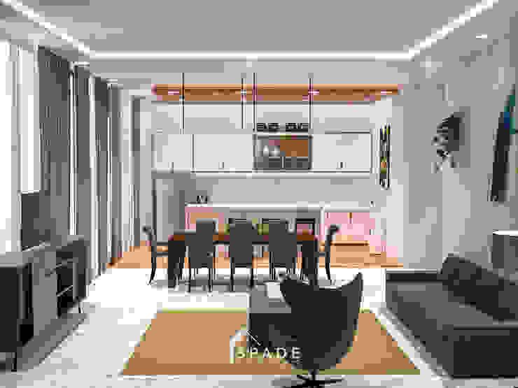 Ruang tamu / keluarga Ruang Keluarga Modern Oleh SPADE Studio Indonesia Modern