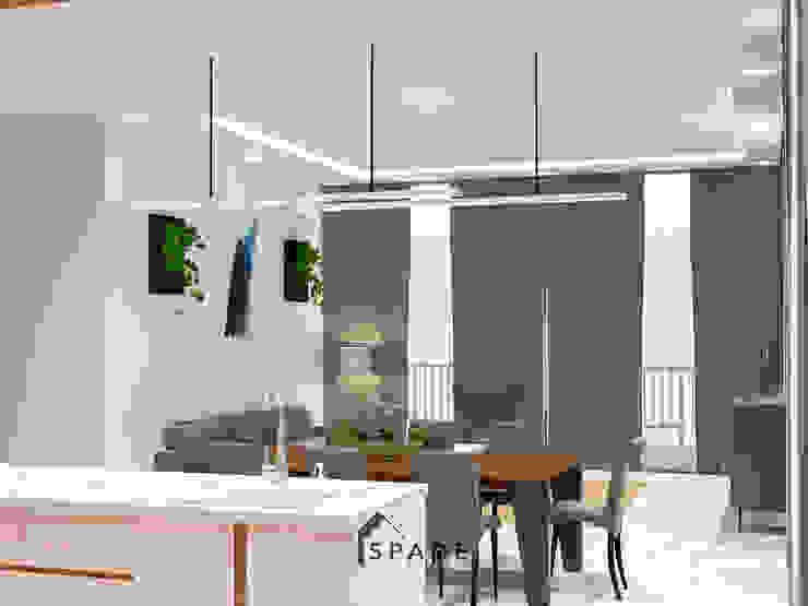 Residential House Bogor Dapur Modern Oleh SPADE Studio Indonesia Modern