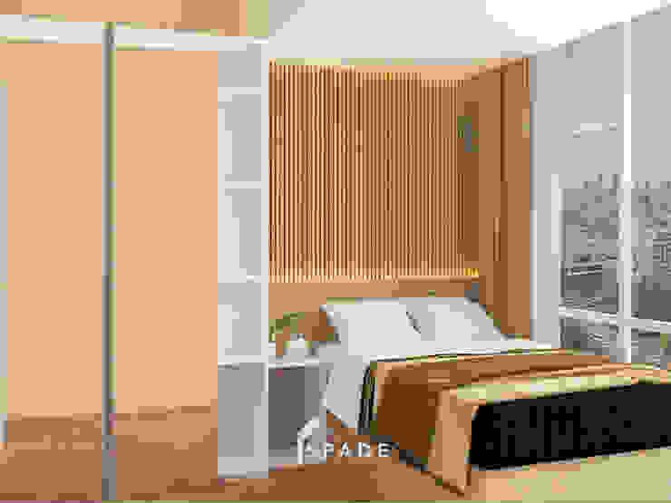 Kensington's Unit Apartment Kelapa Gading Kamar Tidur Modern Oleh SPADE Studio Indonesia Modern