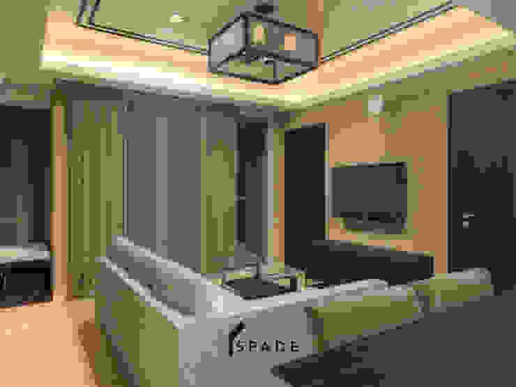 Kensington's Unit Apartment Kelapa Gading Ruang Keluarga Modern Oleh SPADE Studio Indonesia Modern