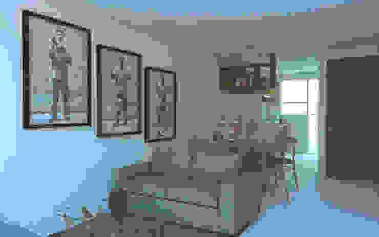 Salas de estar minimalistas por Creer y Crear. Arquitectura/Diseño/Construcción Minimalista