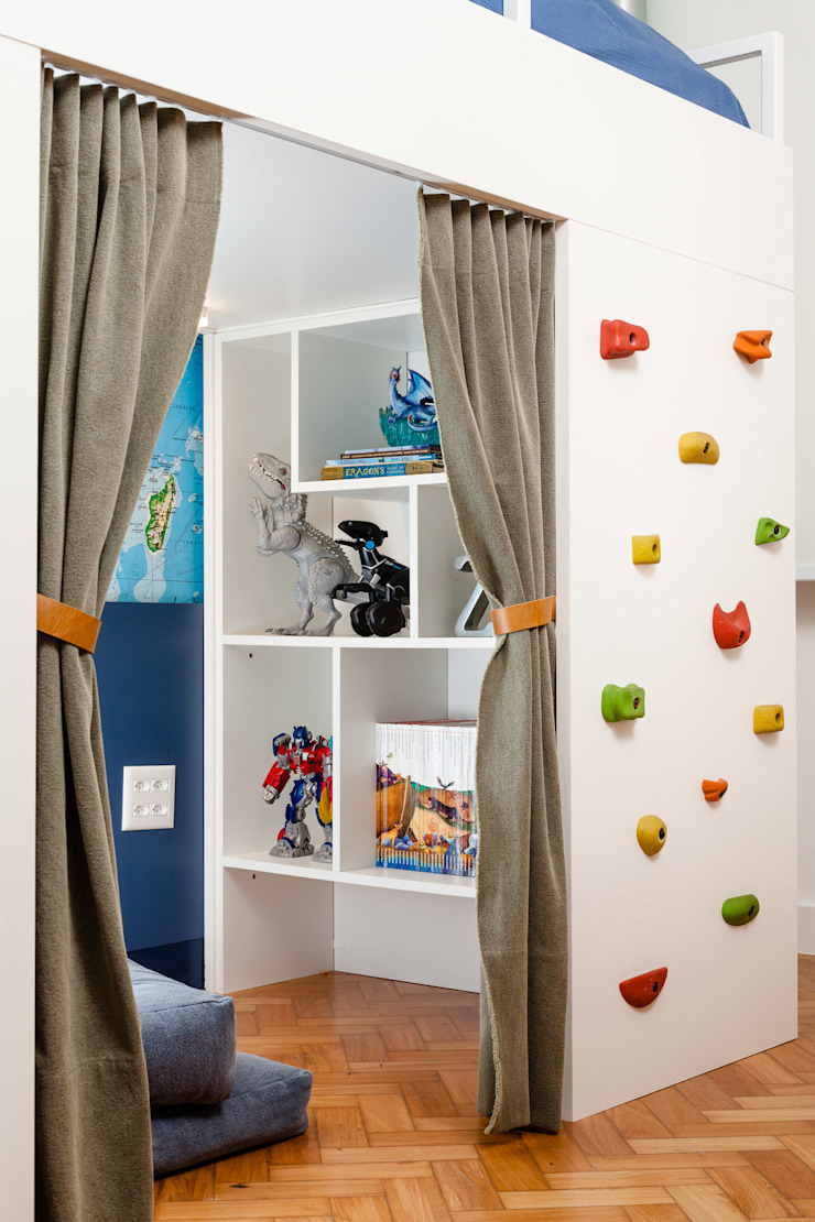 Quartos de menino por Aline Frota Interiores + Retail Design Moderno