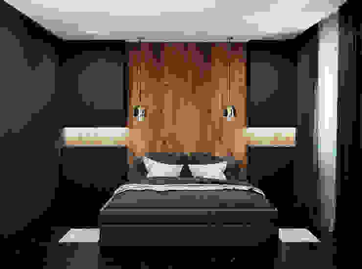 Pracownia Projektowa HybriDesign Adelina Czerbak Camera da letto moderna