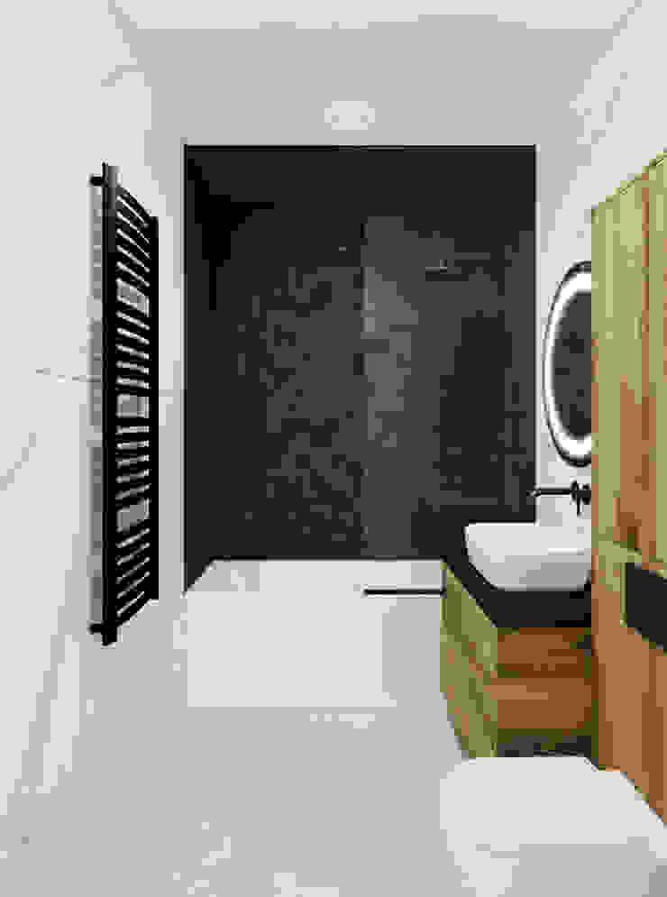 Pracownia Projektowa HybriDesign Adelina Czerbak ห้องน้ำ