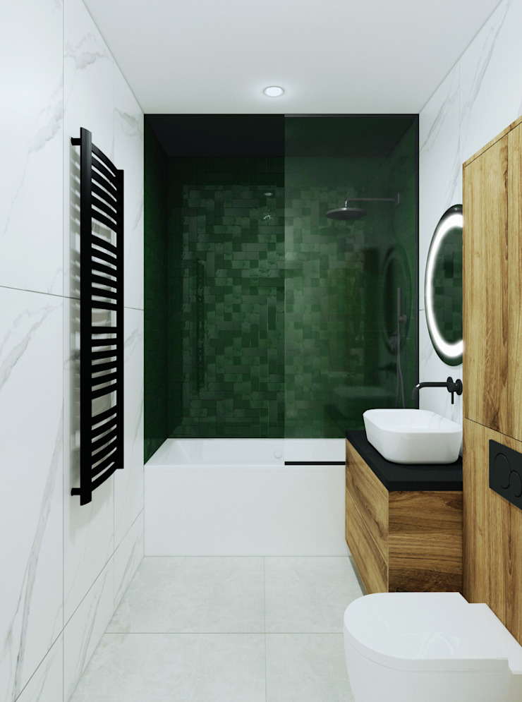 Pracownia Projektowa HybriDesign Adelina Czerbak Modern bathroom
