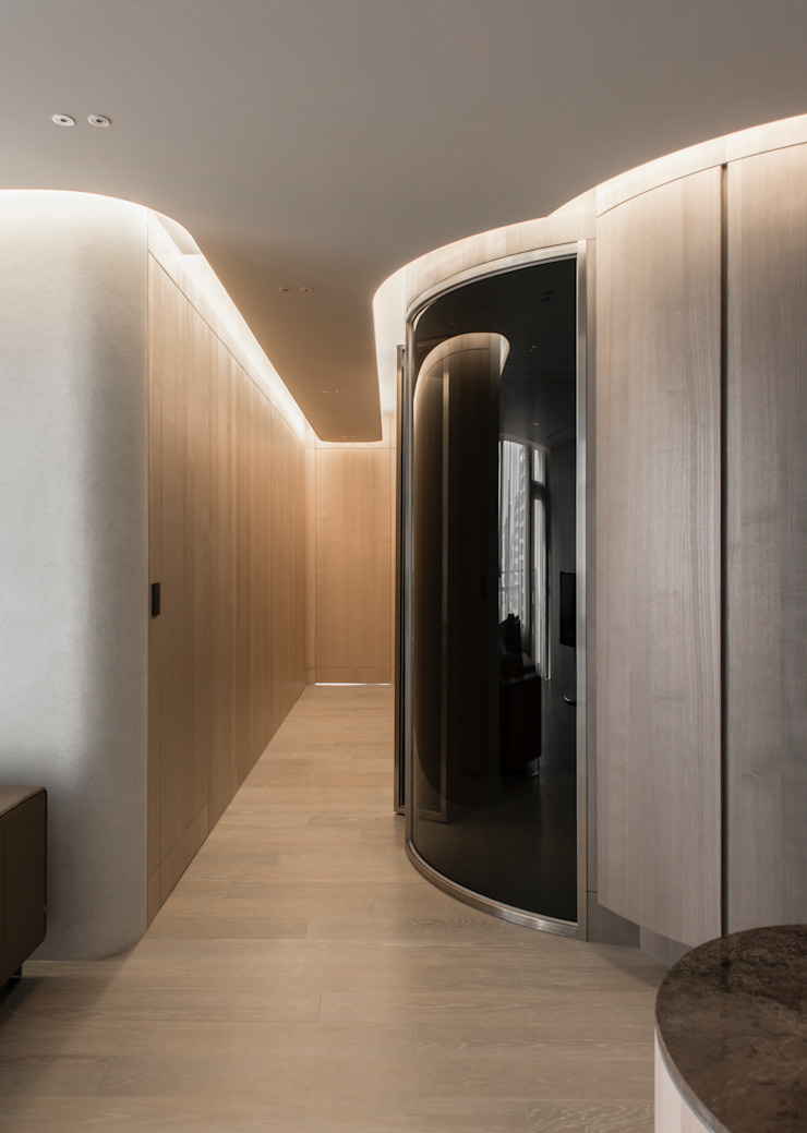 corridor 現代風玄關、走廊與階梯 根據 湜湜空間設計 現代風 木頭 Wood effect