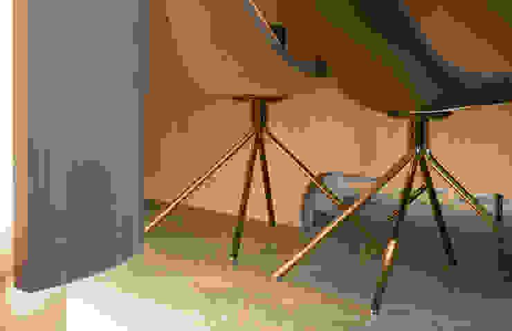 dining table details: 現代  by 湜湜空間設計, 現代風 實木 Multicolored