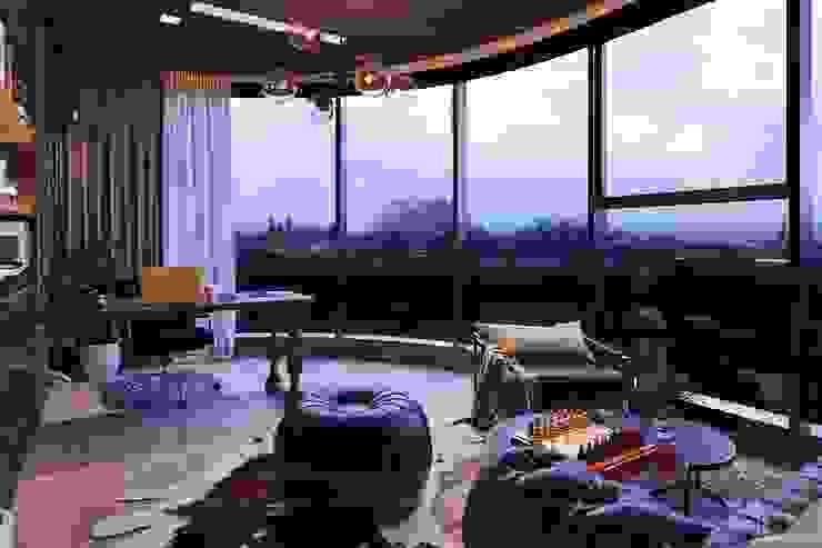 Đẳng cấp với thiết kế nội thất Transition style Phòng học/văn phòng phong cách chiết trung bởi ICON INTERIOR Chiết trung
