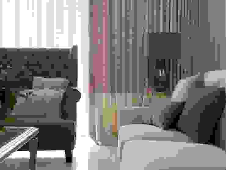 布吉瓦爾花園|The Garden at Bougival 理絲室內設計有限公司 Ris Interior Design Co., Ltd. 客廳凳子與椅子