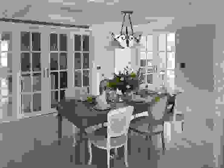 理絲室內設計有限公司 Ris Interior Design Co., Ltd. Country style dining room White