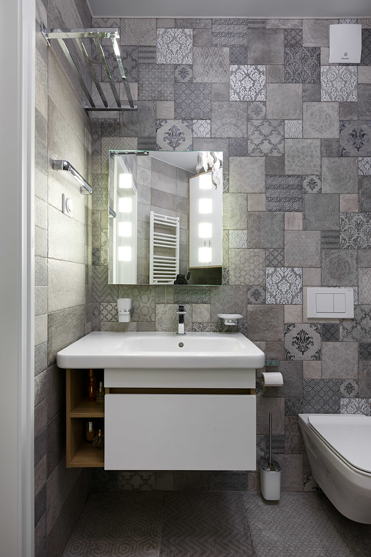 Eclectic style bathroom by GLAZOV design group концептуальная студия дизайна интерьеров Eclectic
