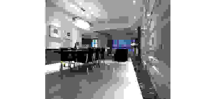 舒適又寬敞的用餐空間 根據 鼎爵室內裝修設計工程有限公司 現代風