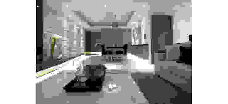 漸層磚貼打造出交錯漸層的牆面 根據 鼎爵室內裝修設計工程有限公司 現代風