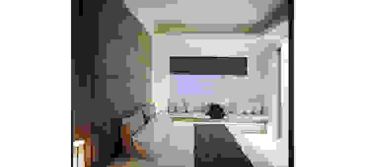 臥室延續了公領域簡單俐落的風格 根據 鼎爵室內裝修設計工程有限公司 現代風