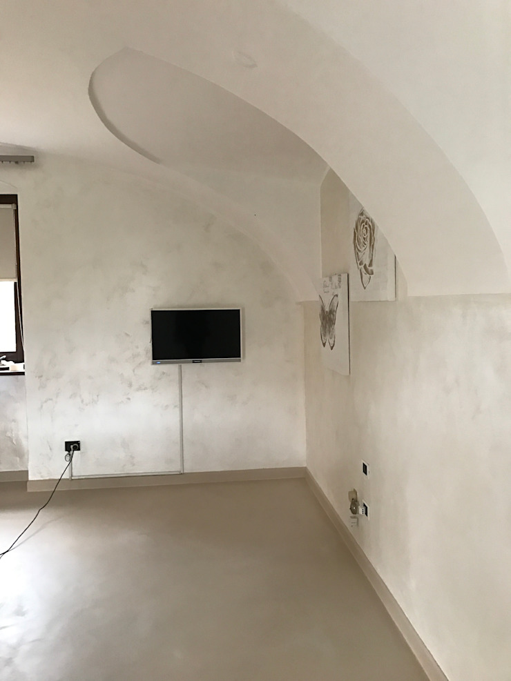 STUDIO ARCHITETTURA SPINONI ROBERTO Dinding & Lantai Gaya Rustic
