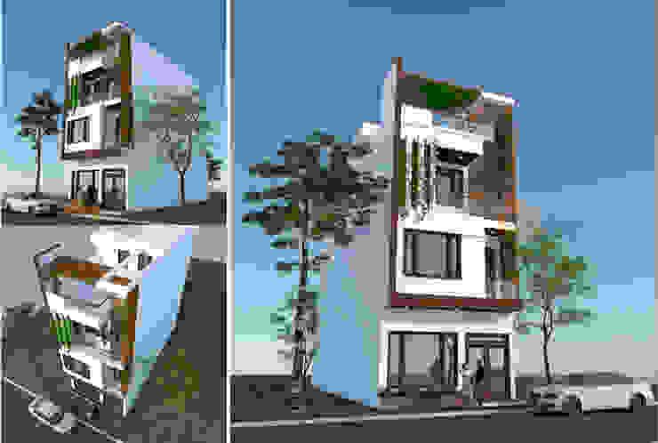 Thiết kế nhà phố 4 tầng tại Lê Trọng Tấn – HN – NP138 bởi CÔNG TY CỔ PHẦN XD&TM KIẾN TẠO VIỆT Hiện đại