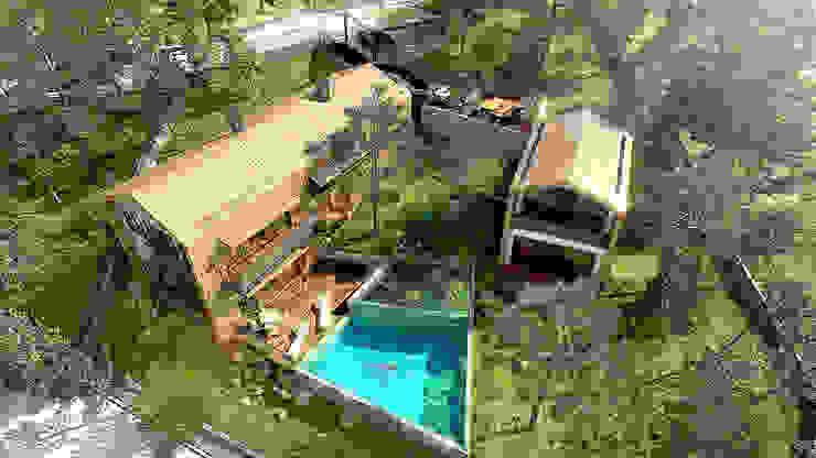 Дома в стиле модерн от Melike Akgül Mimari Tasarım Ofisi Модерн