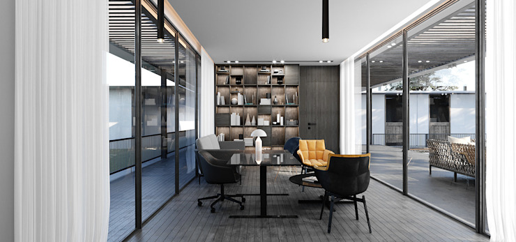 SIKA STABLE Modern Study Room and Home Office by STUDIO PARADIGM Modern