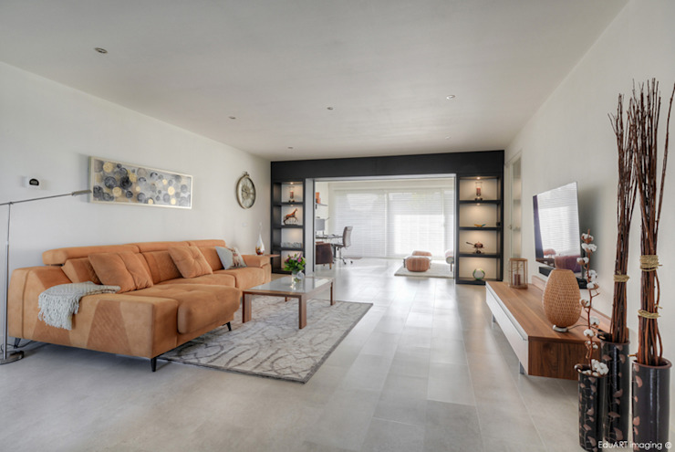 Mediterranean style living room by lab-R | architectenbureau Mediterranean