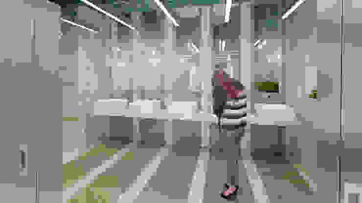 Baños Centro Comercial Iserra 100 de Arq. Esteban Correa