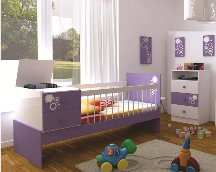 JUEGO DE ALCOBA INFANTIL.. Habitaciones modernas de MUEBLERIA Y CARPINTERIA MADEYRA Moderno Madera Acabado en madera