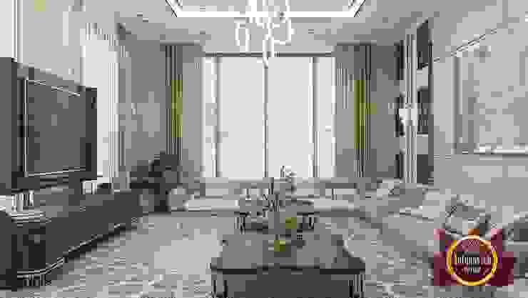 Vibrant Dreamy Luxury Living Room by Luxury Antonovich Design