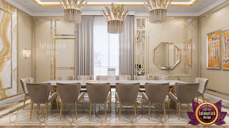 Universal Dining Area for Luxury by Luxury Antonovich Design