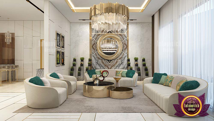 Outstanding Green and Gold Interior Design by Luxury Antonovich Design