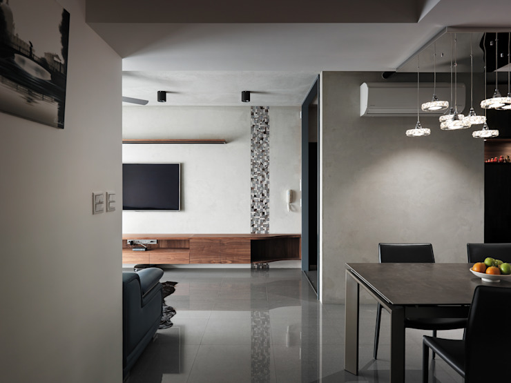 北市新生南路 陳公館 舍子美學設計有限公司 工業風的玄關、走廊與階梯