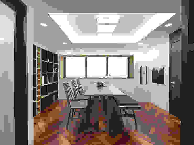 주택내부 및 거실,다이닝룸 스칸디나비아 거실 by 디자인 이업 북유럽 솔리드 우드 멀티 컬러