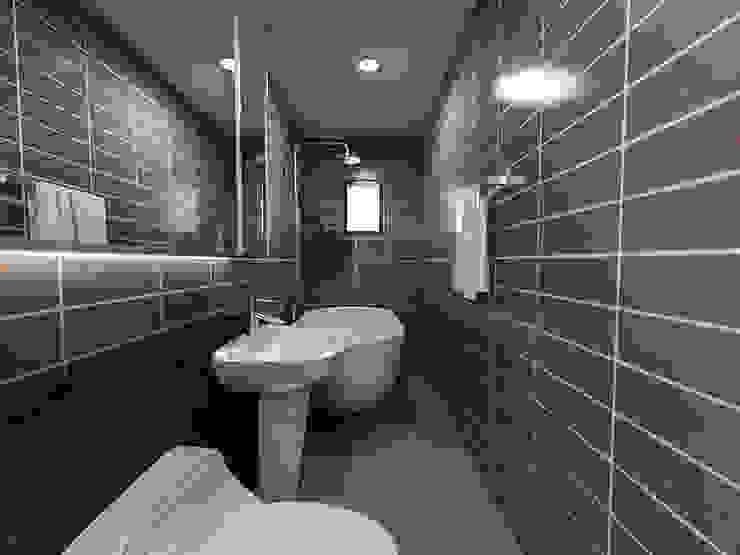 주택 내부 및 화장실공간 모던스타일 욕실 by 디자인 이업 모던 세라믹