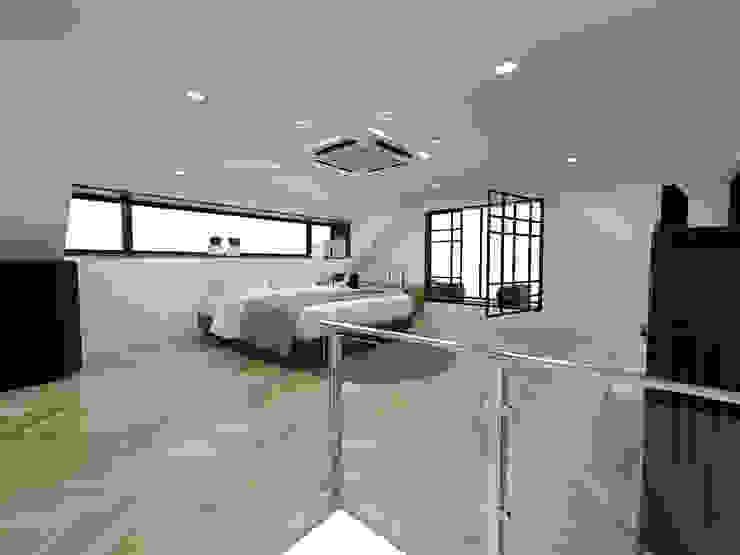 주택 내부 및 복층침실공간 by 디자인 이업 모던 솔리드 우드 멀티 컬러