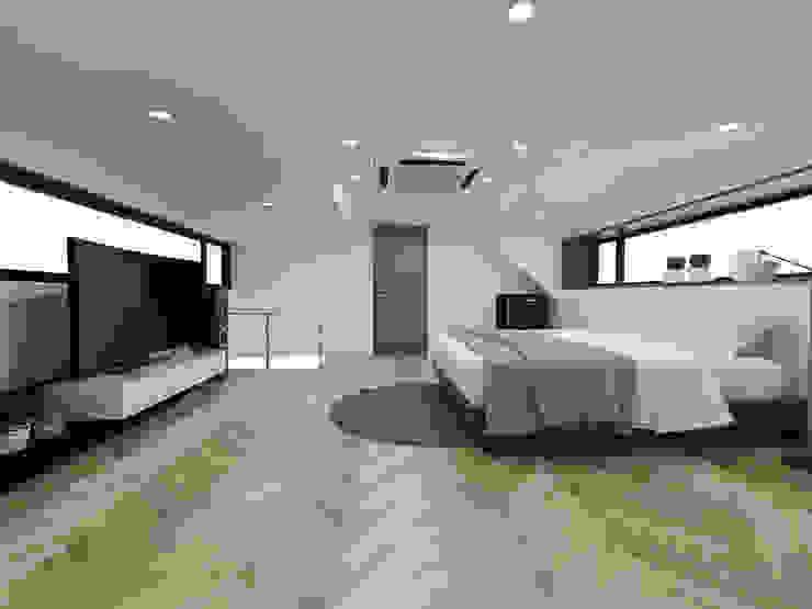 주택 내부 및 침실공간과 계단 by 디자인 이업 모던 솔리드 우드 멀티 컬러