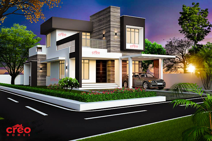 Professional Architect firms in Cochin Asian style houses by Creo Homes Pvt Ltd Asian