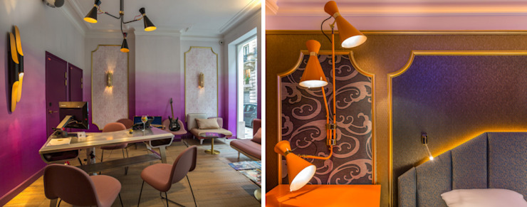 Idol Hotel, Paris Moderne Hotels von DelightFULL Modern Kupfer/Bronze/Messing
