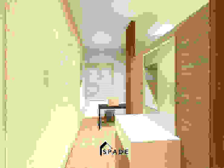 Master Bedroom Taman Surya 2 Ruang Studi/Kantor Minimalis Oleh SPADE Studio Indonesia Minimalis
