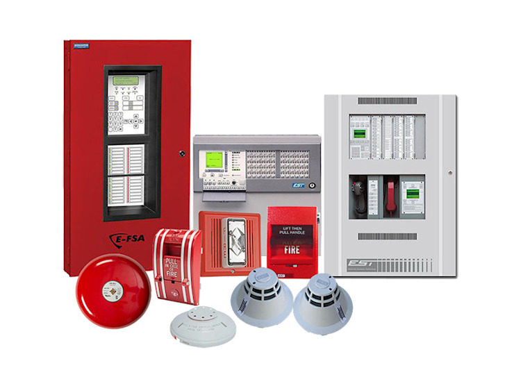 Fire Detection & Alarm Systems at Best Price in India VRF / VRV AC Dealers in Delhi/NCR,India Bungalows Aluminium/Zinc Amber/Gold