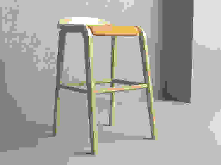 Butaco Elapsis de Cubeconcept.studio Moderno Madera Acabado en madera