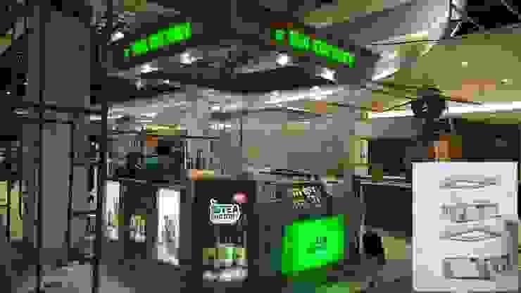 Booth tea factory transmart malang Pusat Perbelanjaan Modern Oleh Magnitra interior Modern