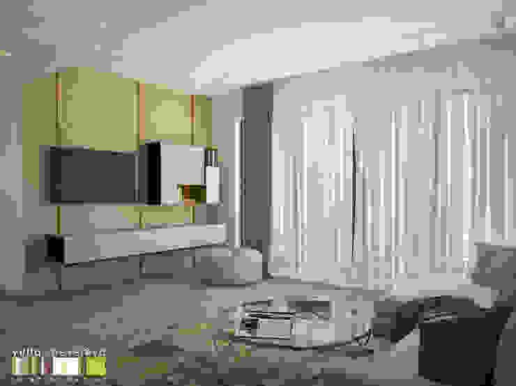 Minimalistische Wohnzimmer von Мастерская интерьера Юлии Шевелевой Minimalistisch