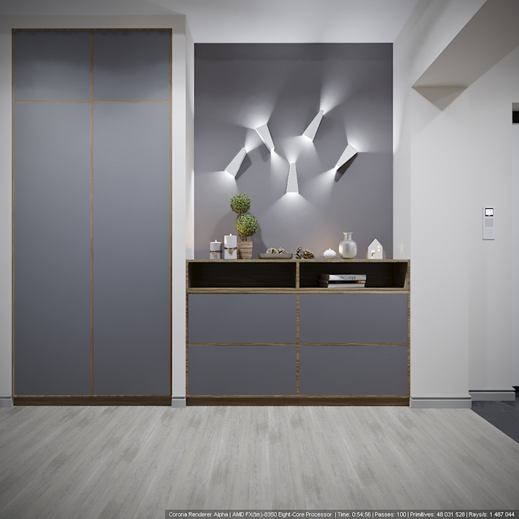 Scandinavian style corridor, hallway& stairs by дизайн-бюро ARTTUNDRA Scandinavian