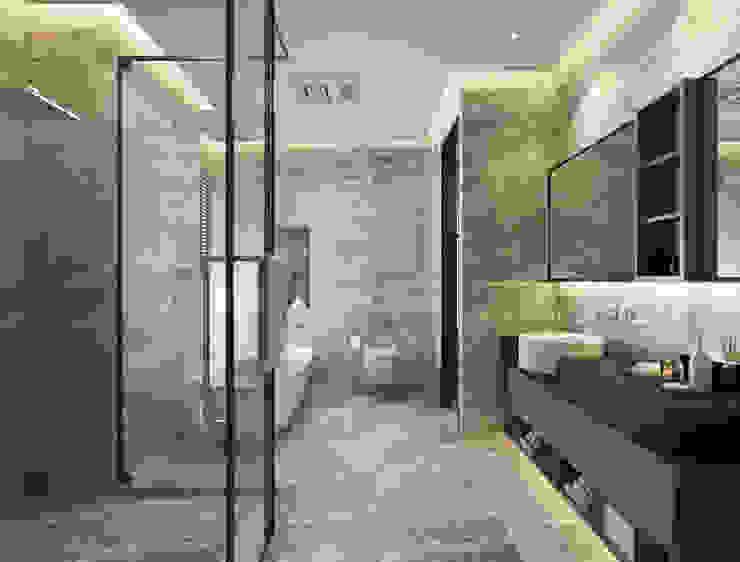 台中室內設計-築采設計 Modern bathroom