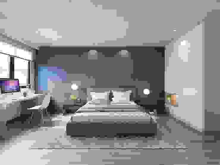 Cuartos de estilo moderno de 台中室內設計-築采設計 Moderno