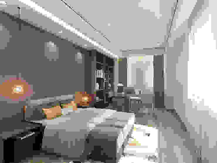 主臥設有一辦公角落 台中室內設計-築采設計 Small bedroom