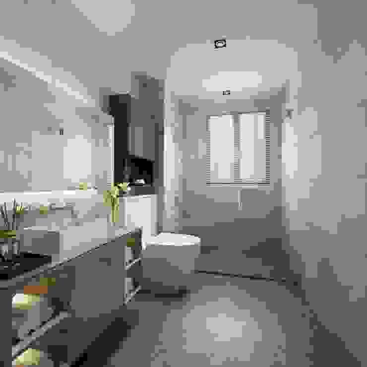 此間衛浴因應空間大小而規劃淋浴 台中室內設計-築采設計 BathroomBathtubs & showers
