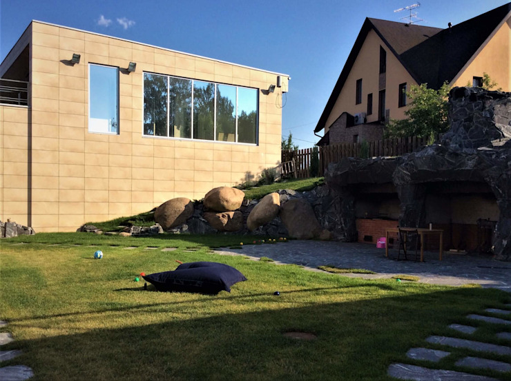 HI-TECH на обломках мегалитового комплекса Сад в скандинавском стиле от GREENS архитектурно-ландшафтное бюро Скандинавский