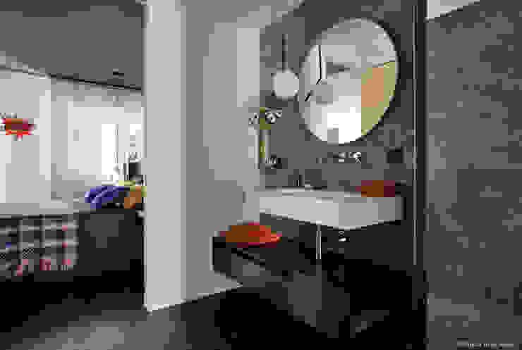 Franck VADOT Architecture Ванна кімнатаДзеркала Скло Білий