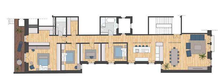 aponto Single family home Solid Wood Wood effect