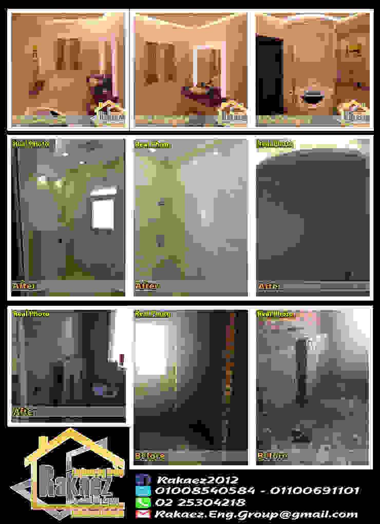 حمام غرفة النوم الرئيسية: حديث  تنفيذ مجموعة ركائز الهندسية, حداثي