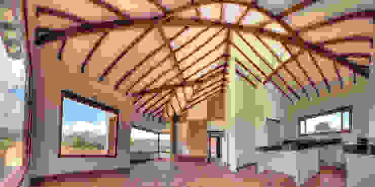 cesar sierra daza Arquitecto หลังคาปั้นหยา ไม้จริง Wood effect